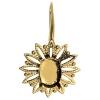 Filigree Earring Setting 25mm Flower Antique Brass